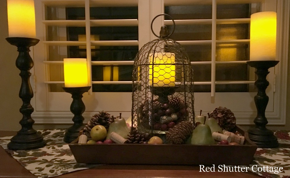 Chicken Wire Cloche with Christmas Fruit.5 Decorating Pieces I use Year-Round.