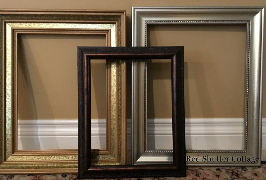 Frames for a summer mantel. How to Decorate a Summer Mantel.