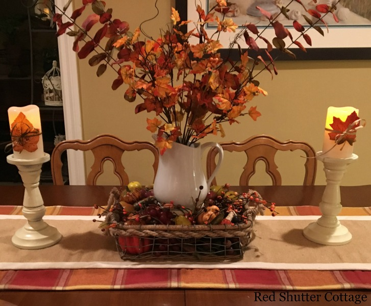 Rope and wire basket for Fall. 5 Decorating Pieces I use Year-Round.