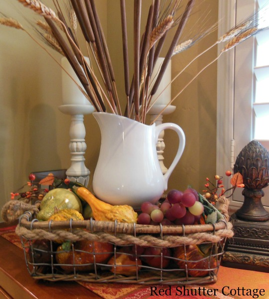 Rope and wire basket for Fall 2. 5 Decorating Pieces I use Year-Round.