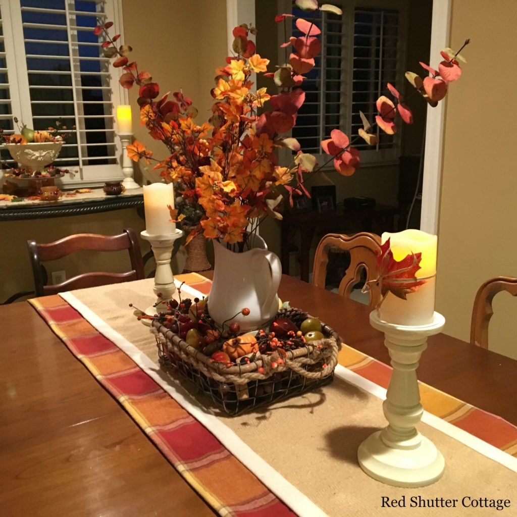 2016 fall home tour dining room table side picture
