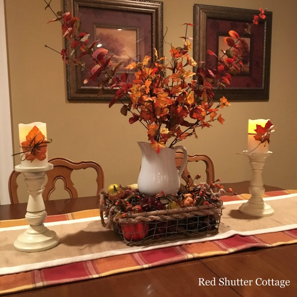 2016 fall home tour dining room table close-up