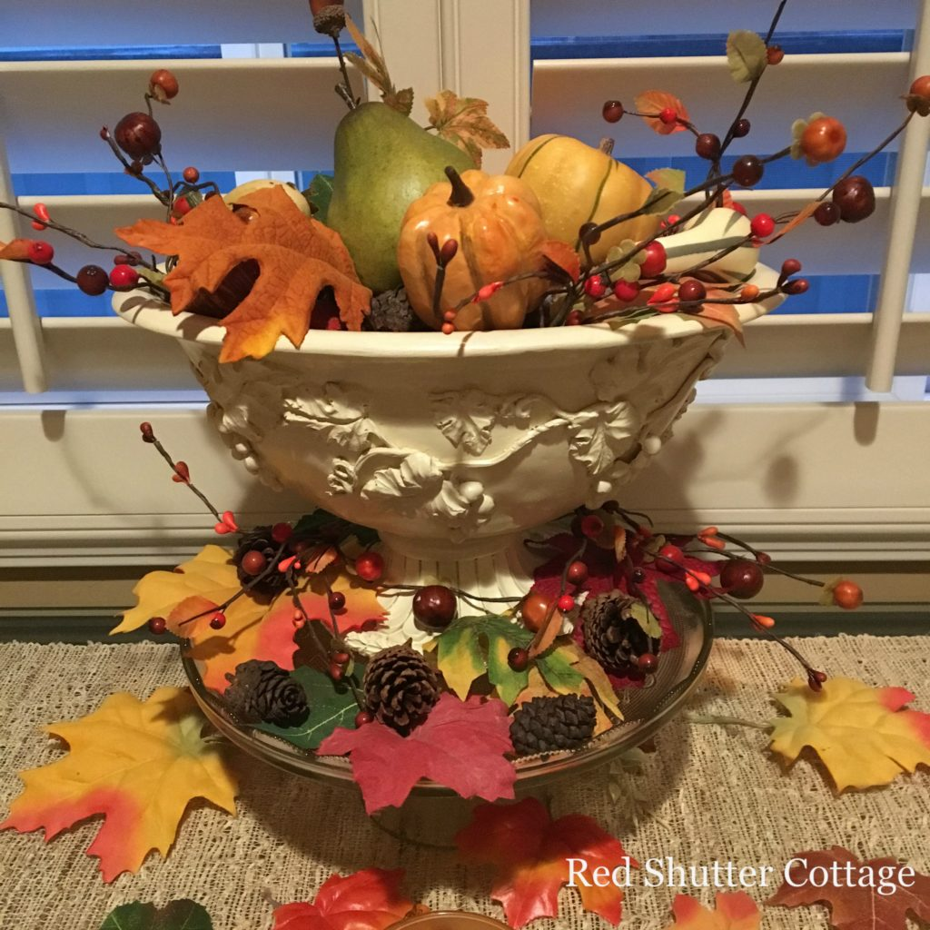 2016 Fall Home Tour window table close up 2
