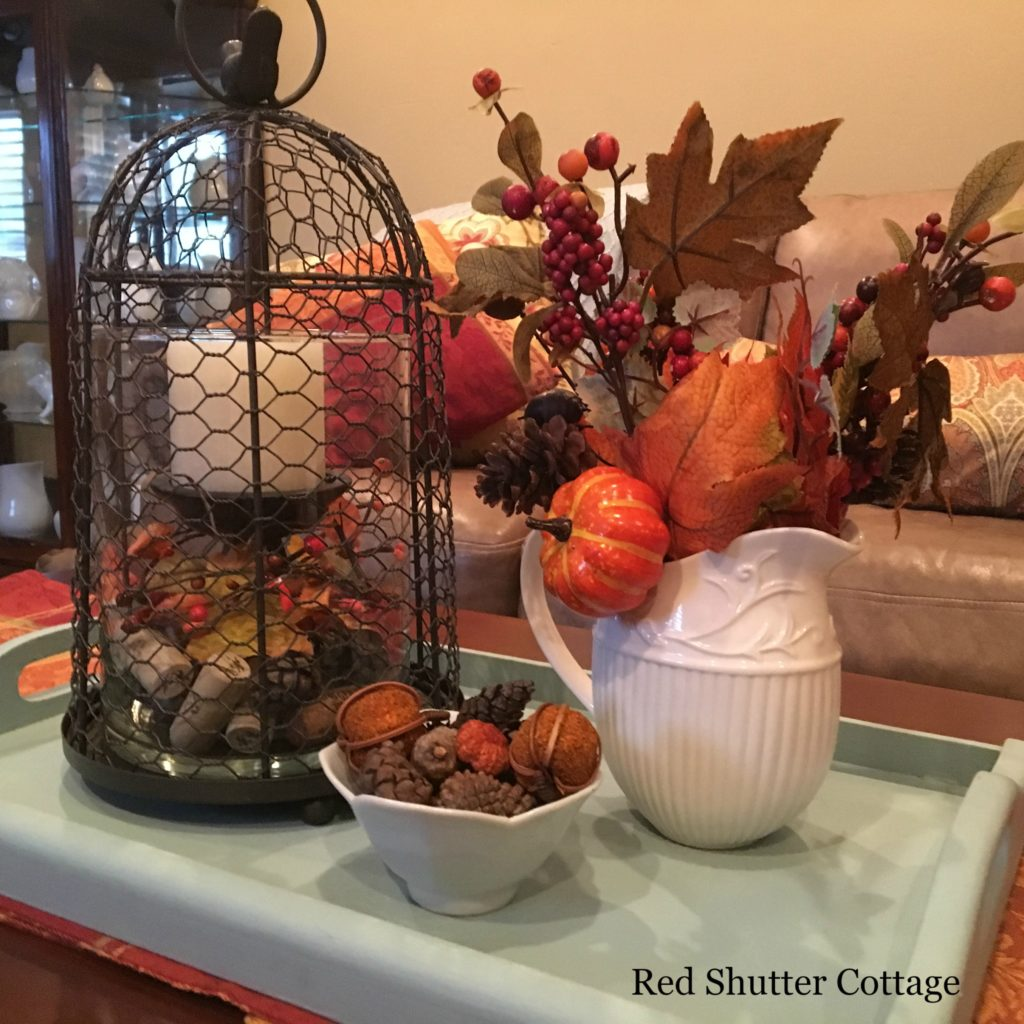 2016 Fall Home Tour coffee table close up