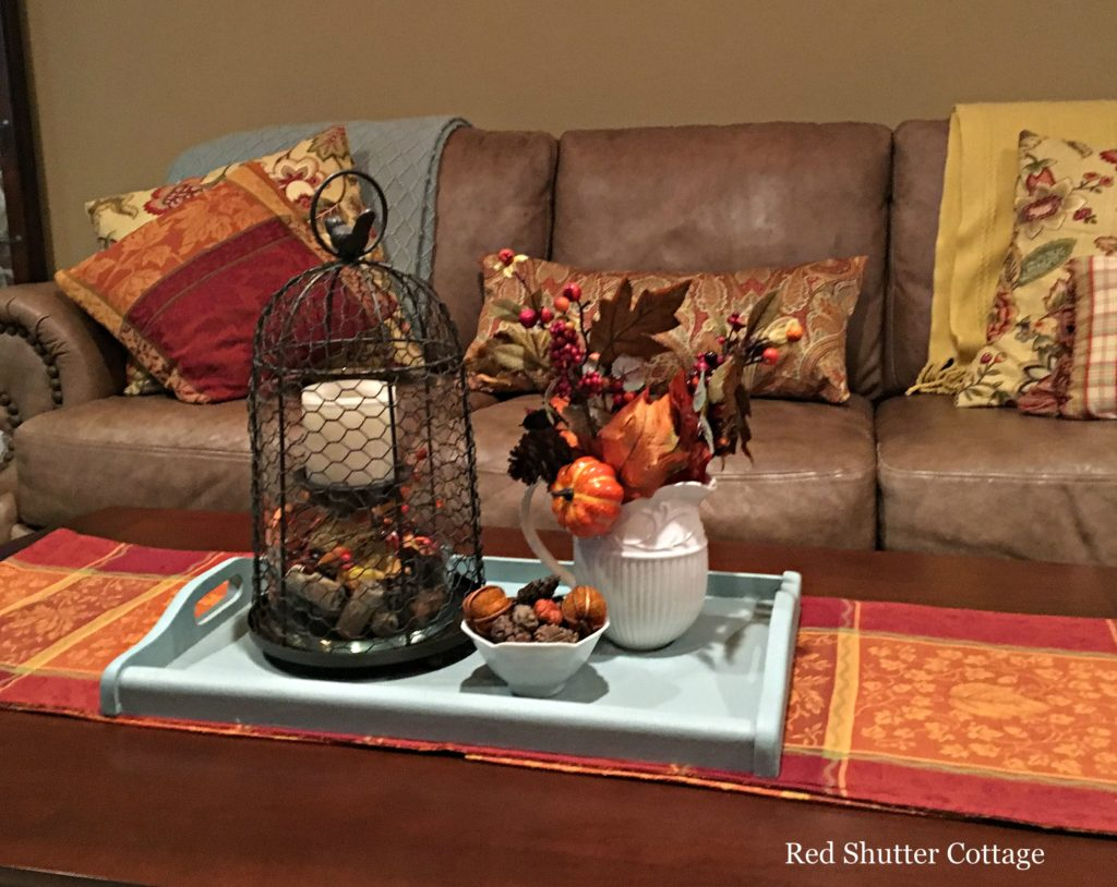 2016 Fall Home Tour coffee table with couch