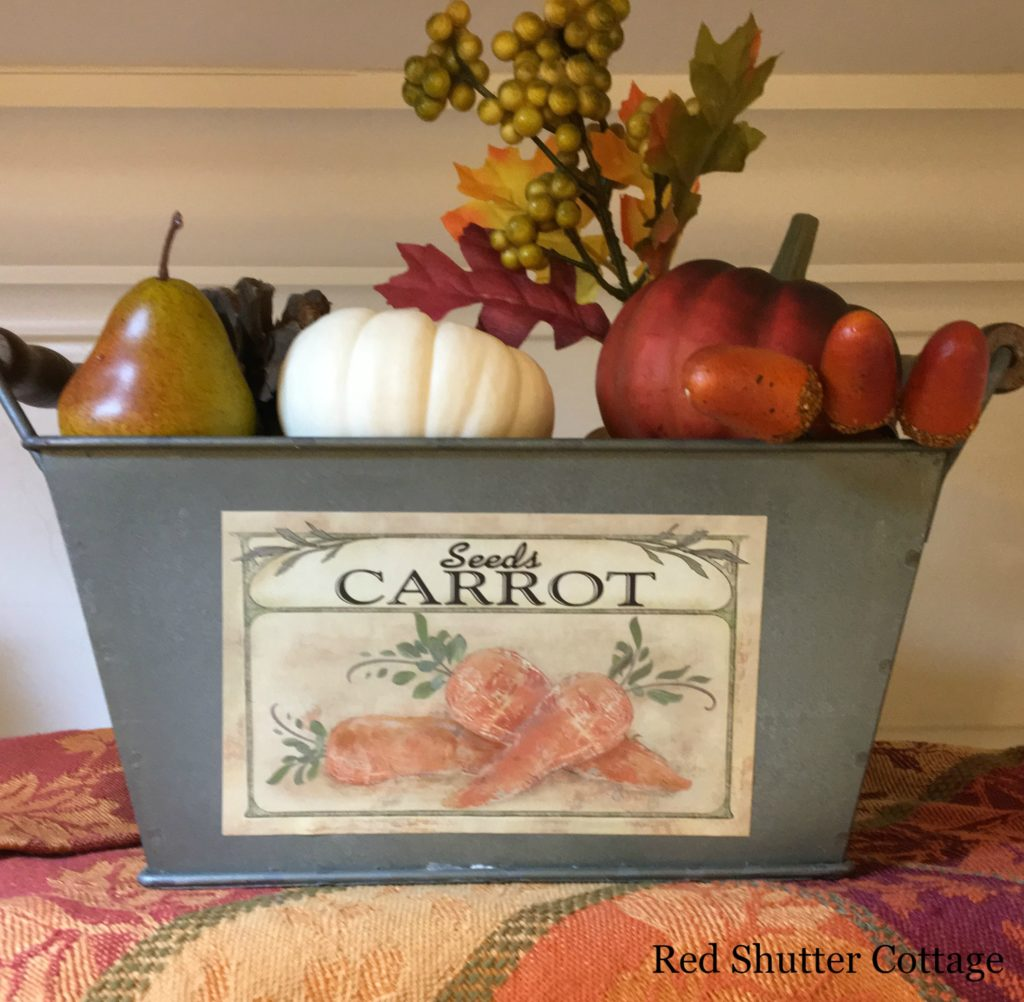 2016 Fall and Halloween Kitchen Tour Sink Shelf right basket