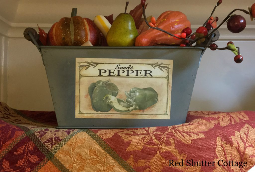 2016 Fall and Halloween Kitchen Tour Sink Shelf left basket