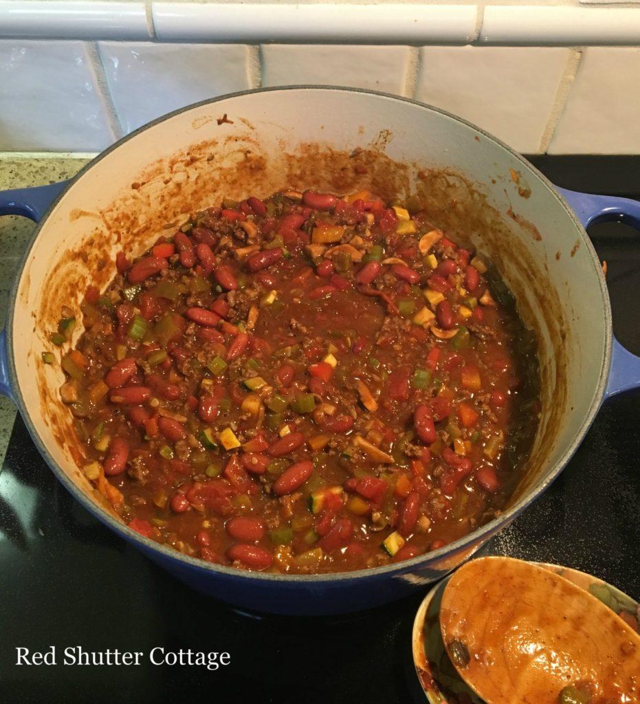 Confetti Chili Red Shutter Cottage