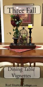 3 Fall Dining Table Vignettes