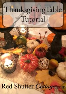 Thanksgiving Table Tutorial