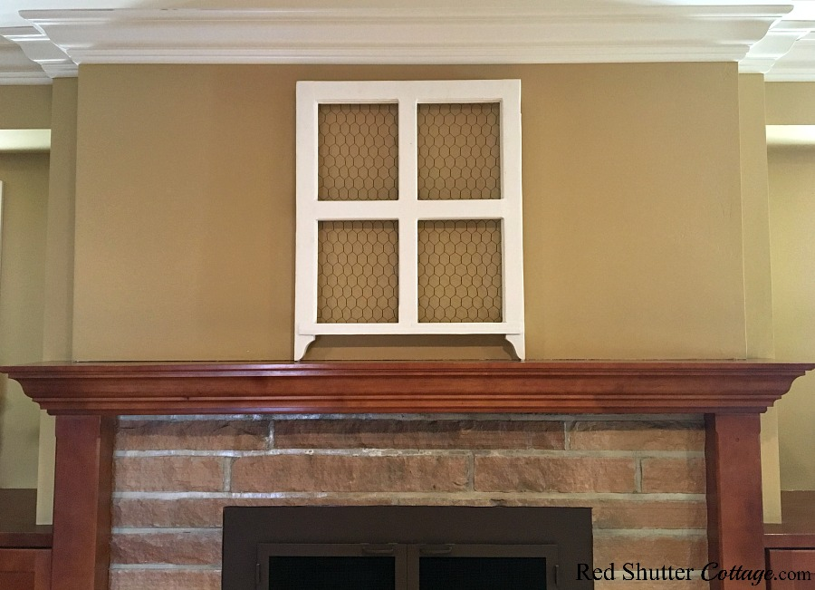 One way to create focus on a mantel is with a window frame, in 5 Steps to a Beautiful Mantel. wwwredshuttercottage.com