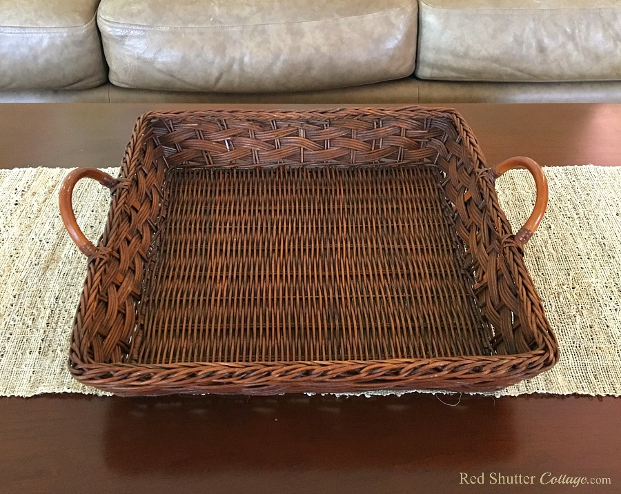 The new basket that inspired the Summer Coffee Table. www.redshuttercottage.com