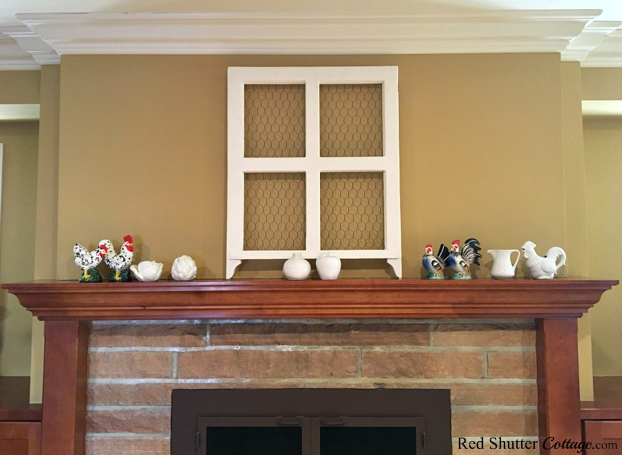 Be careful of using small items on the mantel, as part of the 5 Steps to a Beautiful Mantel. www.redshuttercottage.com