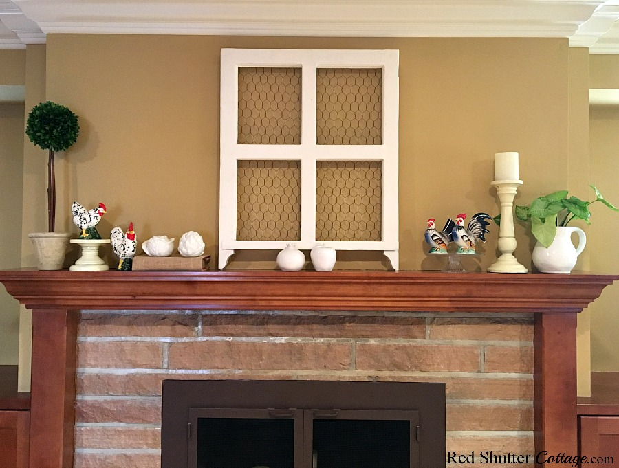 A few elevations to small items can help them be seen, as part of 5 Steps to a Beautiful Mantel. www.redshuttercottage.com