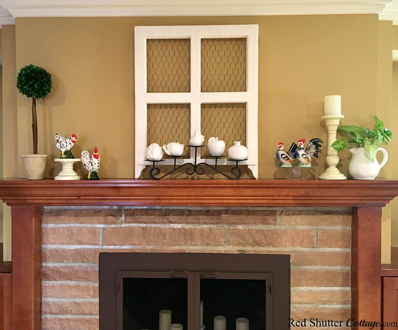 Small items on a mantel can have more impact when they are elevated and grouped together, as part of 5 Steps to a Beautiful Mantel. www.redshuttercottage.com