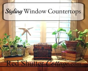 This post titled Styling Window Countertops is about how I went full circle to style two window countertops. www.redshuttercottage.com