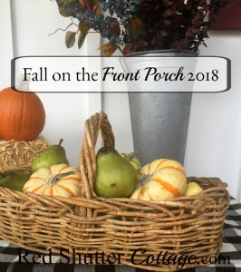 I put together a grouping of every day items and fall fruits and foliage to create A Festive Fall on the Front Porch. www.redshuttercottage.com