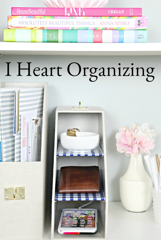 A photo from I Heart Organizing as part of 6 of My Favorite Blogs for Decorating and Organizing