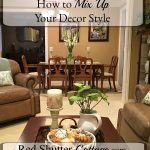 Here are ideas on how pulling in smaller accents from different decorating styles can bring a fresh and inviting look to your home decorating. How to Mix Up Your Decor Style at www.redshuttercottage.com