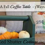 Here are 3 different takes on a fall coffee table showing various ways to create a fall vignette. www.redshuttercottage.com