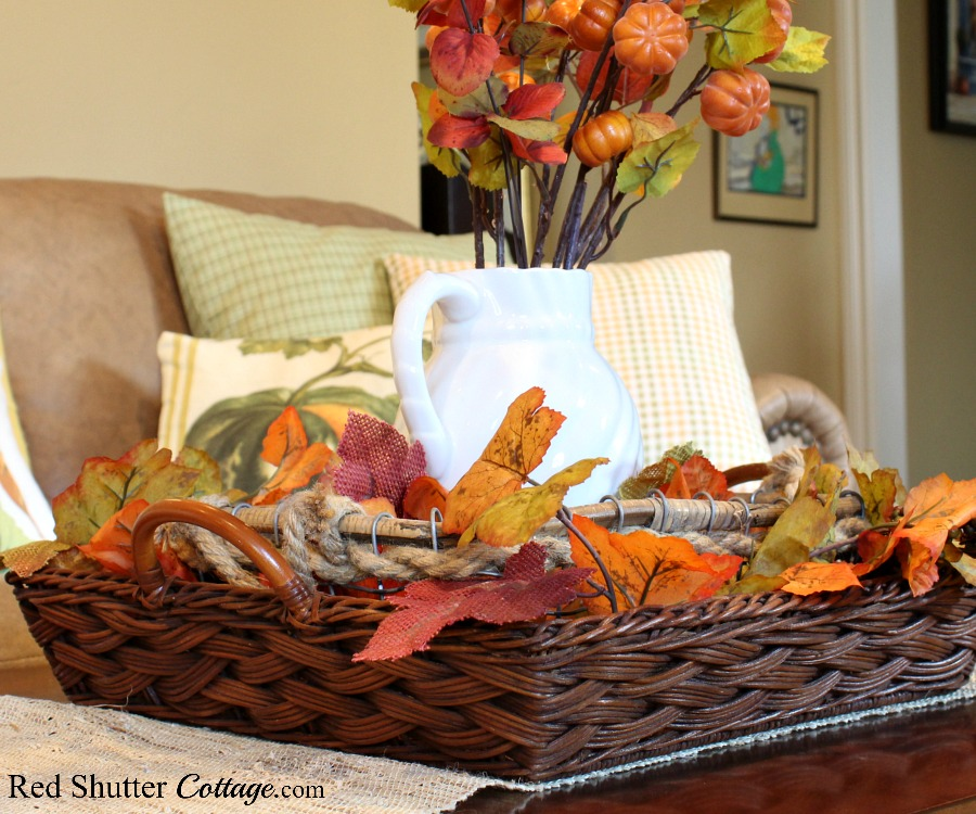 This lovely, oversized flat basket gets used a lot, even combined with another basket inside of it. Another example of 7 Tips for Successful Thrift Shopping. www.redshuttercottage.com